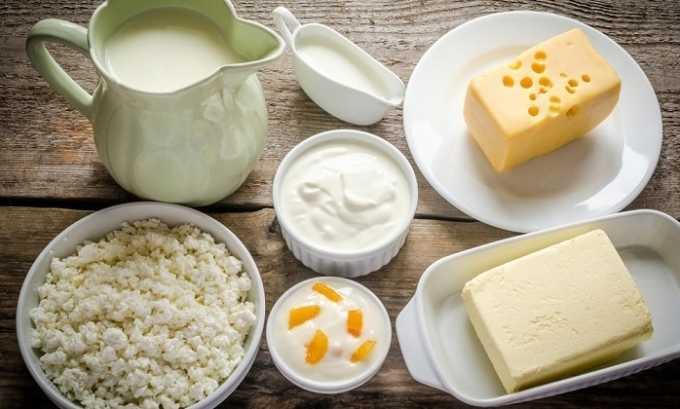 В рацион нужно вводить молочные продукты