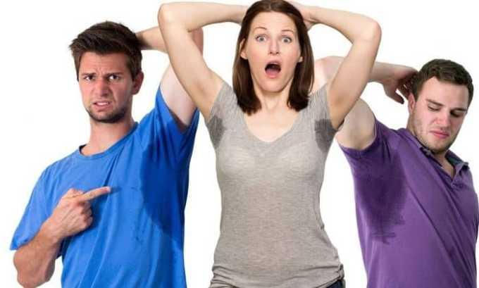 Очень часто при тиреотоксикозе люди страдают от повышенного потоотделения
