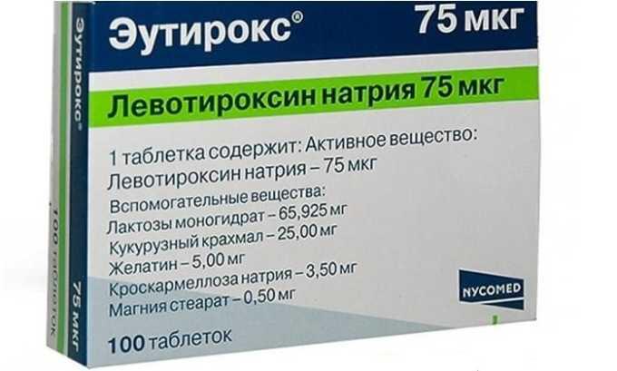 Эутирокс — синтетический гормональный препарат. Его используют при гипотиреозе, когда формируется стойкий недостаток уровня гормонов в организме человека