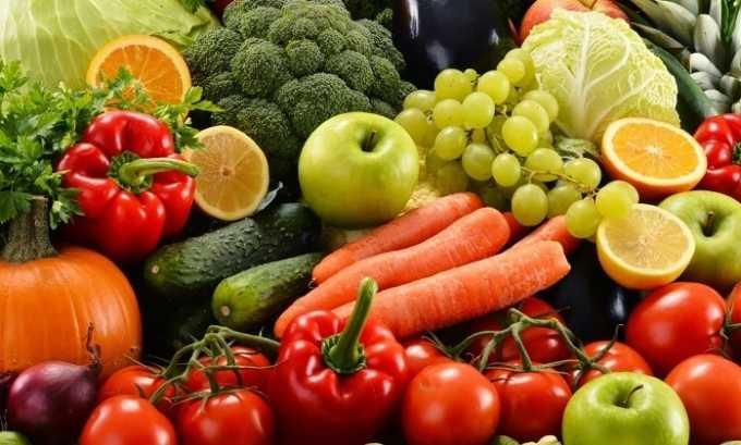 В меню больного хроническим тиреоидитом важно включать свежие овощи и фрукты