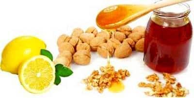 Грецкий орех мед и лимон