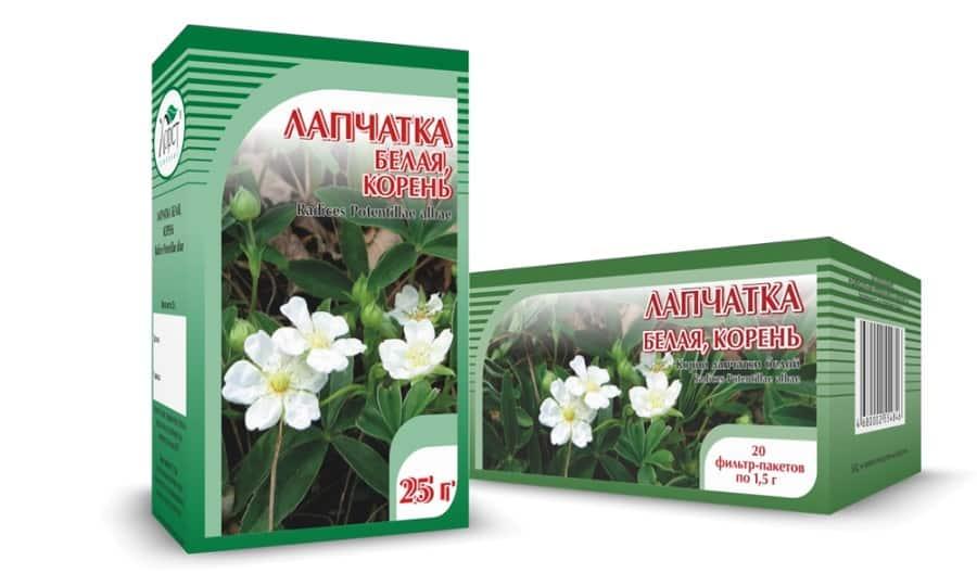 При заболеваниях щитовидки издавна применяют траву лапчатки белой. Это растение борется с повышенной и пониженной функцией щитовидной железы