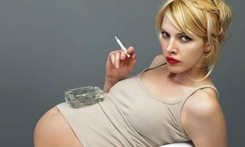 К недоразвитию щитовидной железы у малыша очень часто приводит табакокурение женщины во время беременности